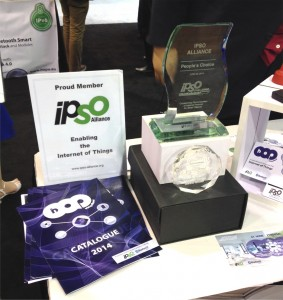 HOP Ubiquitous captured the IPSO CHALLENGE People's Choice Award AND the Sensor's Expo Attendee's Choice Award