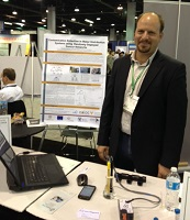 Dr. Fanis Lambrou at Sensors Expo.  He has already received an inquiry about ordering 100 units!